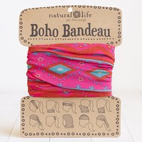 Pink  &  Turquoise  Zigzag  Boho  Bandeau  From  Natural  Life