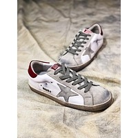 Ggdb Golden Goose Uomo Donna White Grey Star G36d121.s2 Old Dirty Shoes