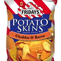 TGI Friday's Snack Chips Cheddar Bacon Potato Skins, 3-Ounce Packages (Pack of 12)