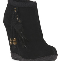 Leather Milana Wedge Bootie - Wedges - T.J.Maxx