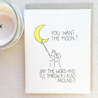 Say the Word... Lasso the Moon Card