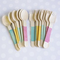 Shop Sweet Lulu - Spoons & Forks: Bright Chevron