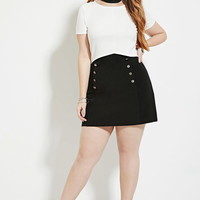 Plus Size Ribbed Crop Top | Forever 21 PLUS - 2000168514
