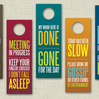 Funny Office Door Hangers