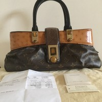 Louis Vuitton Monogram limited Edition Macha Waltz Bag Ostrich