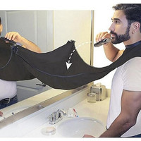 1 PC Man Bathroom Apron Black Beard Care Trimmer Hair Shave Apron for Man Waterproof Floral Cloth Household Cleaning Protections