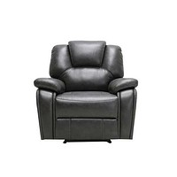"""40"""" Contemporary Grey Leather Power Reclining Chair"""