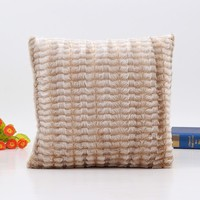 Shayla Faux Fur Throw Pillow Cover