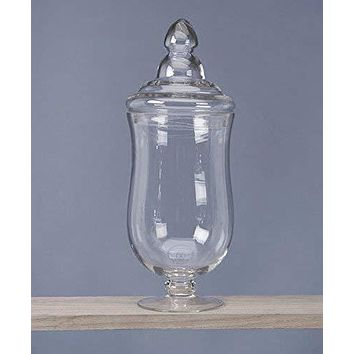 Clear Glass Apothecary Candy Jar, 16-Inch, Curvature