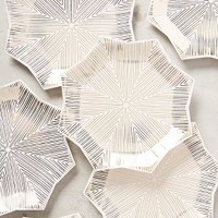 Snowflake Plates by Anthropologie in Gold Size: Set Of 8 Dinnerware