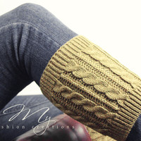 Knit Boot Cuffs, Cable Knit Boot Cuffs, Button Boot Cuffs, Womens Boot Socks, Womens Boot Cuffs, Dainty Button Boot Cuffs, Mocha, Boot Cuffs from My fashion creations
