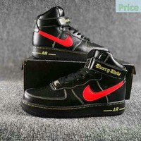 fashion shoes 2018 Nike Air Force 1 High Collection VLONE Black Red Yellow AA536-001 shoe