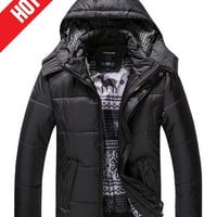 Our Gift for you !!! New Arrival Men's Fashion Hooded Coats, For Men 2014 High Quality Casual Warm Winter Jacket,Slim Men Outwear = 1956917636
