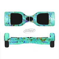 The Trendy Green with Splattered Paint Droplets Full-Body Skin Set for the Smart Drifting SuperCharged iiRov HoverBoard