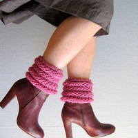 Womens leg warmers knitted shoes accessories boot cuffs girls ruffled boot toppers marsala