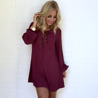 More Like You Shift Dress In Plum