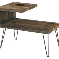 One Kings Lane - The Complete Bedroom - Aldo End Table, Driftwood