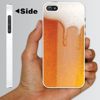 "Amazon.com: Alcohol Themed ""Cold Beer with Foamy Head\"" Design - White Protective iPhone 5 Hard Case: Cell Phones & Accessories"