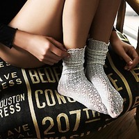 Legale Womens Netted Ankle Sock
