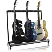 7 Multi Guitar Bass Folding Stand Stage 7 Holder Rack Guitar Stand