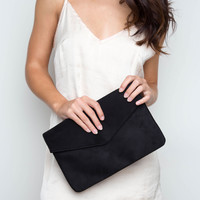Shirelle Envelope Clutch - Black