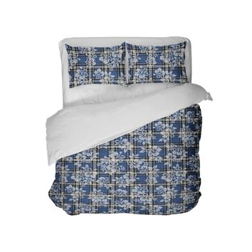 Preppy Surfer Plaid Comforter from Extremely Stoked