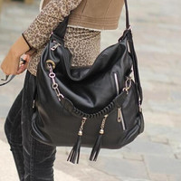 Womens cute handbag backpack leather bag gift 04