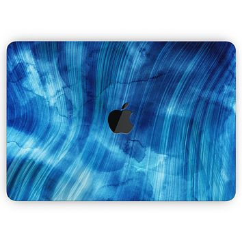 """Vivid Agate Vein Slice Blue V10 - Skin Decal Wrap Kit Compatible with the Apple MacBook Pro, Pro with Touch Bar or Air (11"""", 12"""", 13"""", 15"""" & 16"""" - All Versions Available)"""