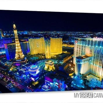 Large Wall Art Canvas Night Las Vegas City Skyline Canvas Prints Vegas Art Canvas Vegas Casinos