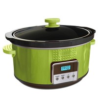 BELLA 13997 Dots Collection Programmable Slow Cooker, 5-Quart, Green