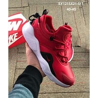 Nike Air Huarache tide brand men and women retro shock comfortable men's sports shoes red