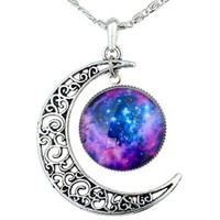 925 Sterling Silver Cubic Zirconia Fovever Lover Women Pendant Necklace