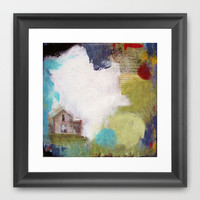 Love is a Place Framed Art Print by Natalie Baca