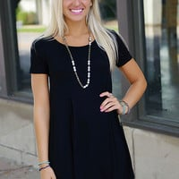 Effortless Attention Dress (Black)