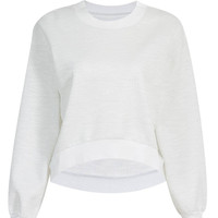 Cropped Sweatshirt in White