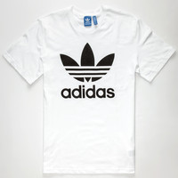 Adidas Originals Trefoil Mens T-Shirt White  In Sizes