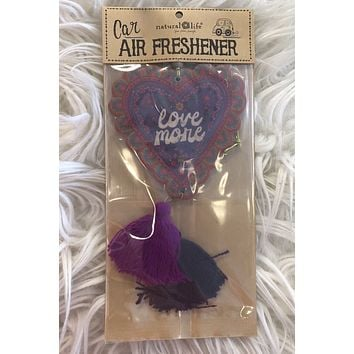 Love More Car Air Freshener-  Strawberry