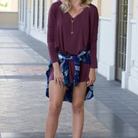 Burgundy Tunic Dress
