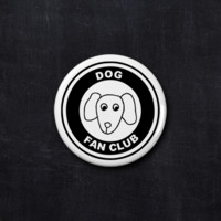 Dog fan club button