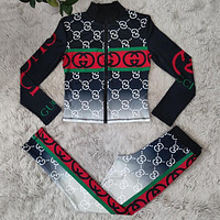 GUCCI GG new gradient fashion digital printing two-piece suit