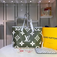 LV Louis Vuitton MONOGRAM CANVAS NEVERFULL HANDBAG TOTE BAG
