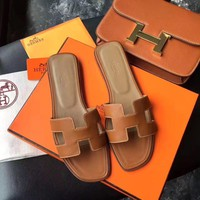 Hermès Flat bottom slippers