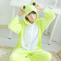 Unisex Adult Kigurumi Pajamas Animal Cosplay Cartoon Frog Sleepwear