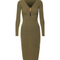 Chic Knitted Midi Olive