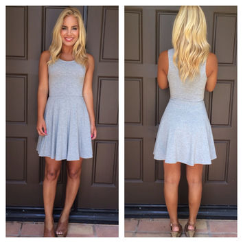 Truly Yours Baby Doll Dress - Heather Grey
