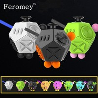 Promotion Fidget Cube Toys Six Sided Fidget Toys Anti Stress Magic Cube Figet Toys Squeeze Fun Stress Reliever Toys For Adult