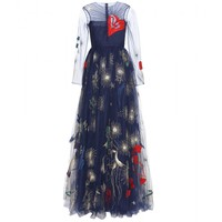 valentino - embroidered evening gown