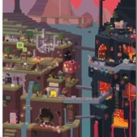 Minecraft Cube Video Game Poster