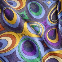 EMILIO PUCCI fabric 100% Silk Satin for dress,shirt or skirt, Made in Italy