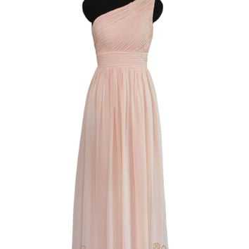 2016 Empire One-shoulder Bridesmaid Dress  AM455